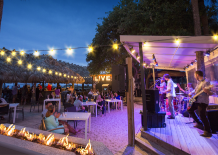 live music at the Tiki Hut in Hilton Head Island, SC